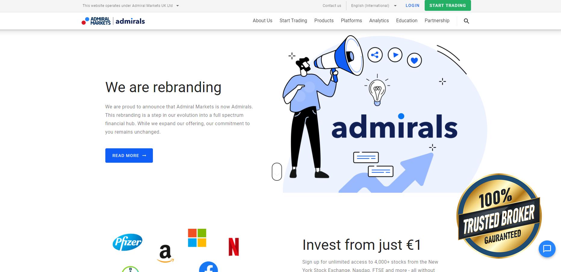 Sitio web oficial Admirals