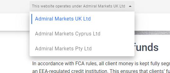 Autoridades de regulación Admirals
