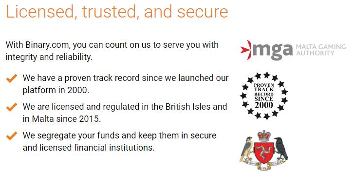 Security of binary
