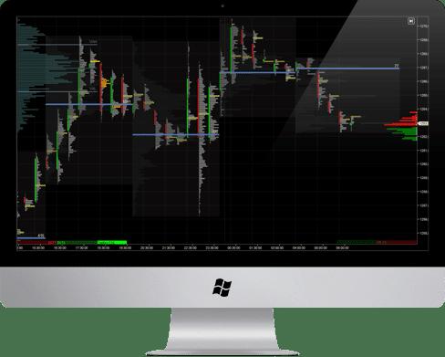 Trading platform showing order flow