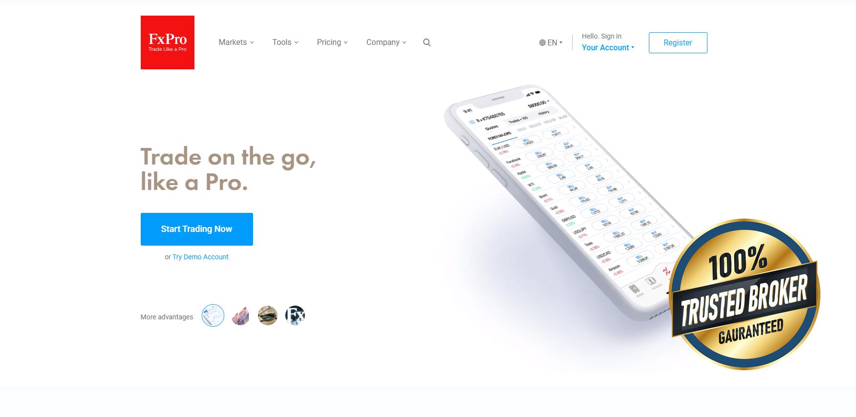 Oficiální stránky FxPro