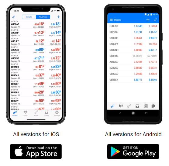 binary.com MetaTrader 5 App