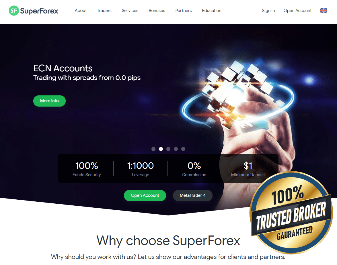 SuperForex Official Website