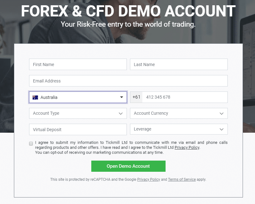Forex broker demo account
