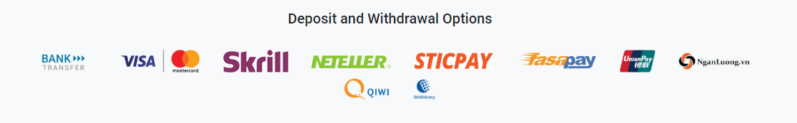 Tickmill deposit and withdrawal methods