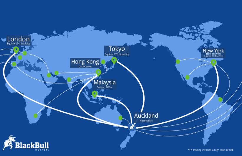 BlackBull Markets é globalmente ativo