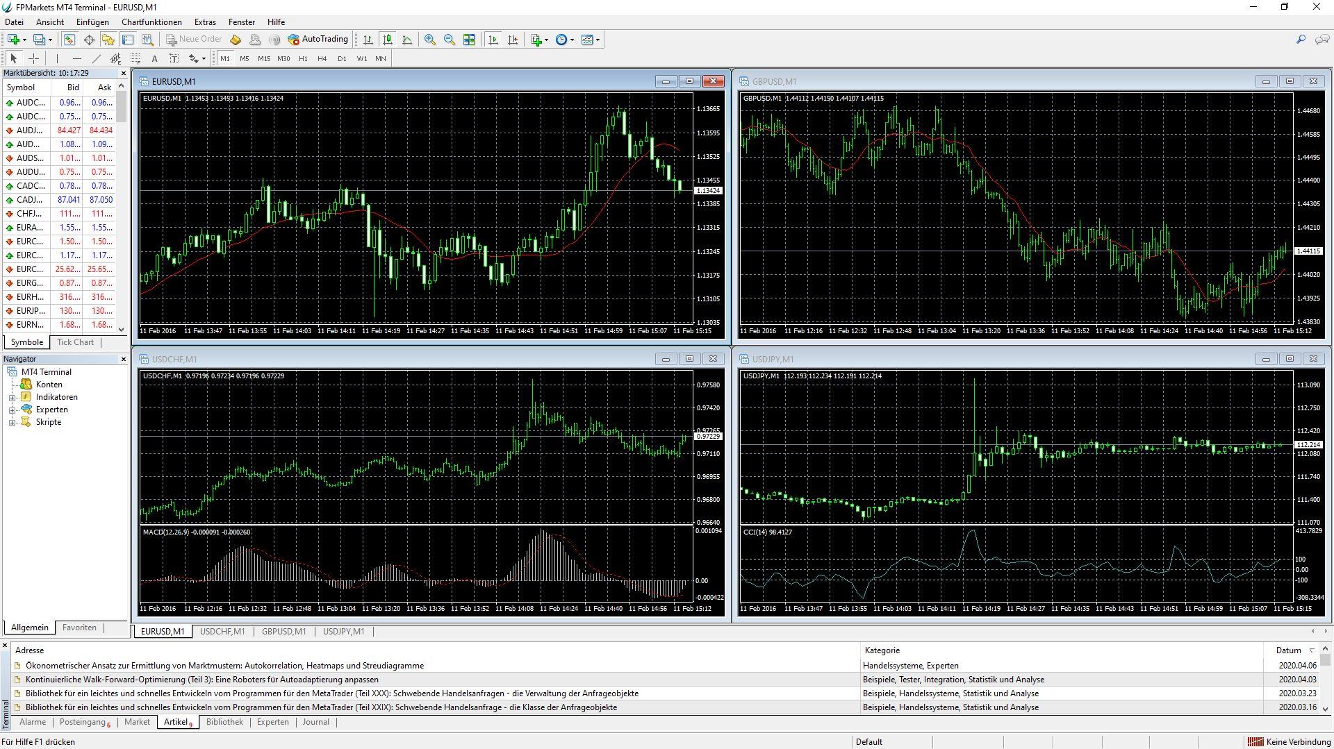 FP Markets Платформа за търговия с настолни компютри