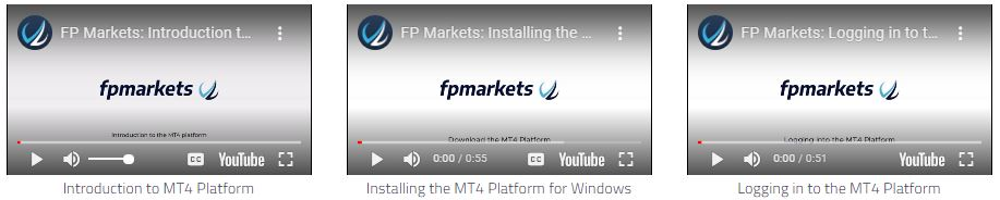 FP Markets offers free video tutorials about how to use MetaTrader 4 (MT4)