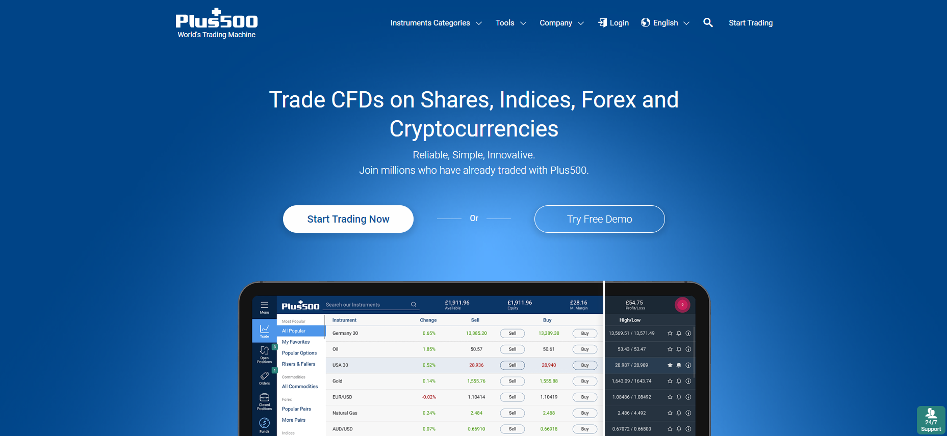 Plus500 Cryptocurrency Platform and Trading Software