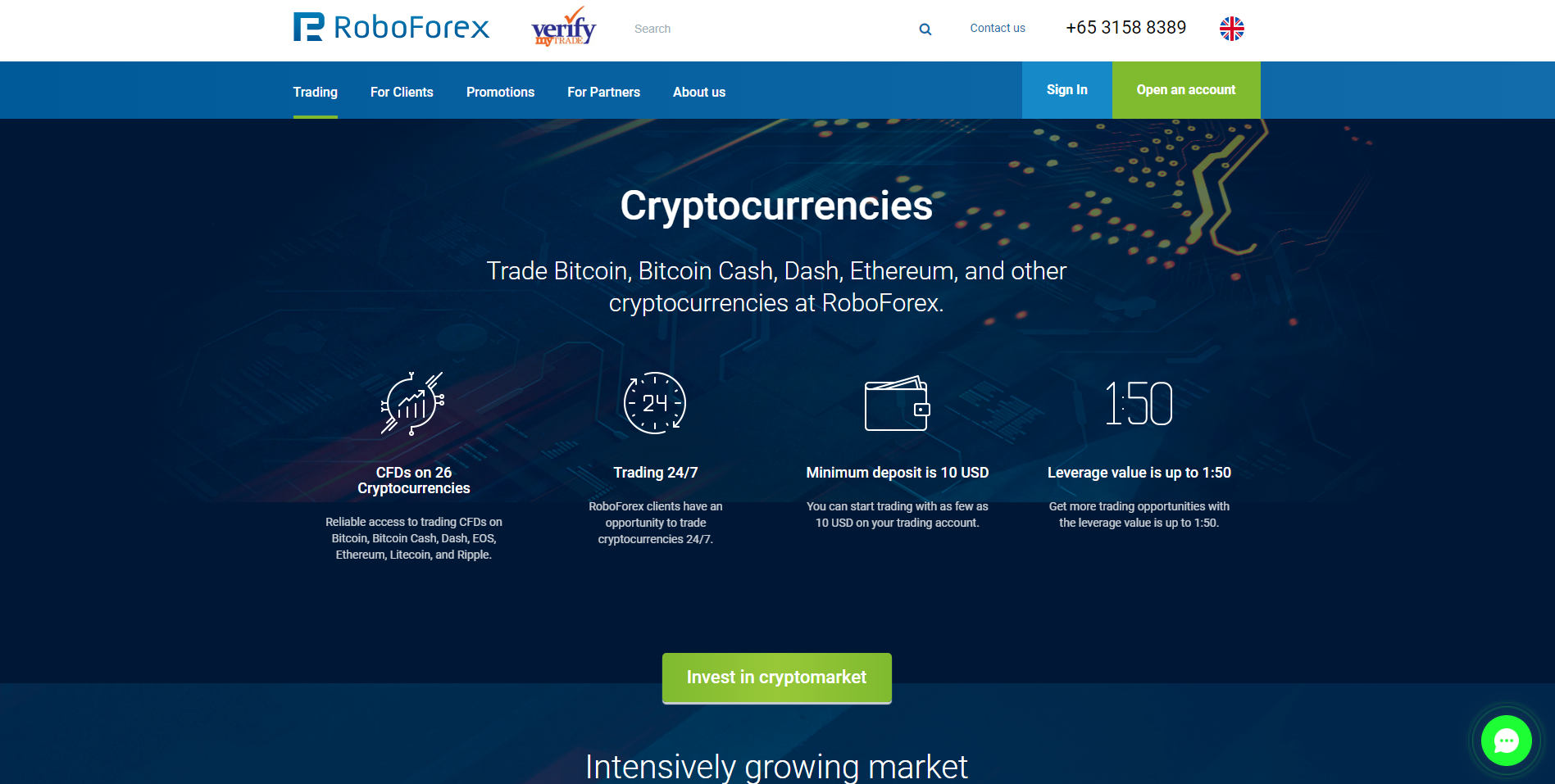 RoboForex Cryptocurrency Platform and Trading Software