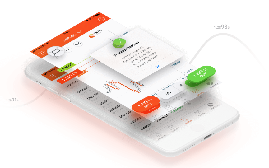 FXTM trader for mobile devices