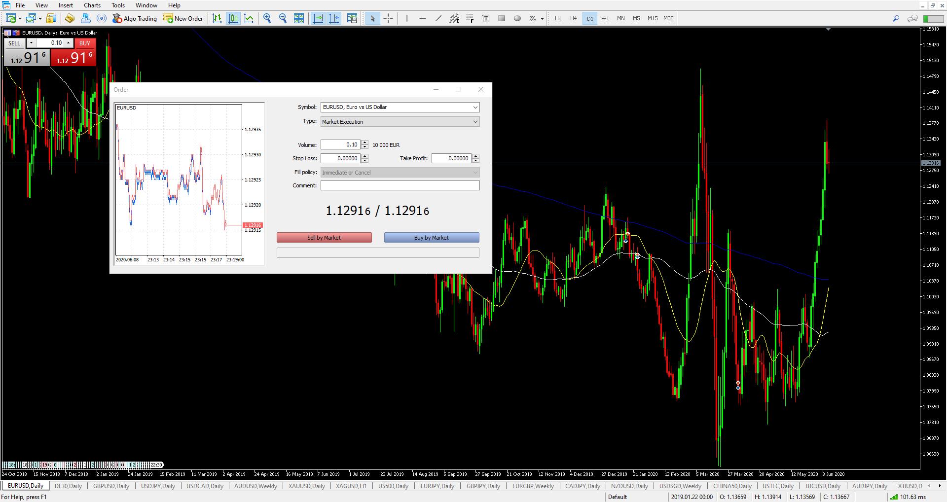 Forex Торговая платформа MetaTrader 5 скриншот