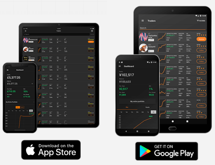 Mobile Trading App with ZuluTrade