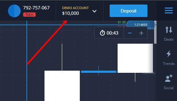 Expert Option app demo account