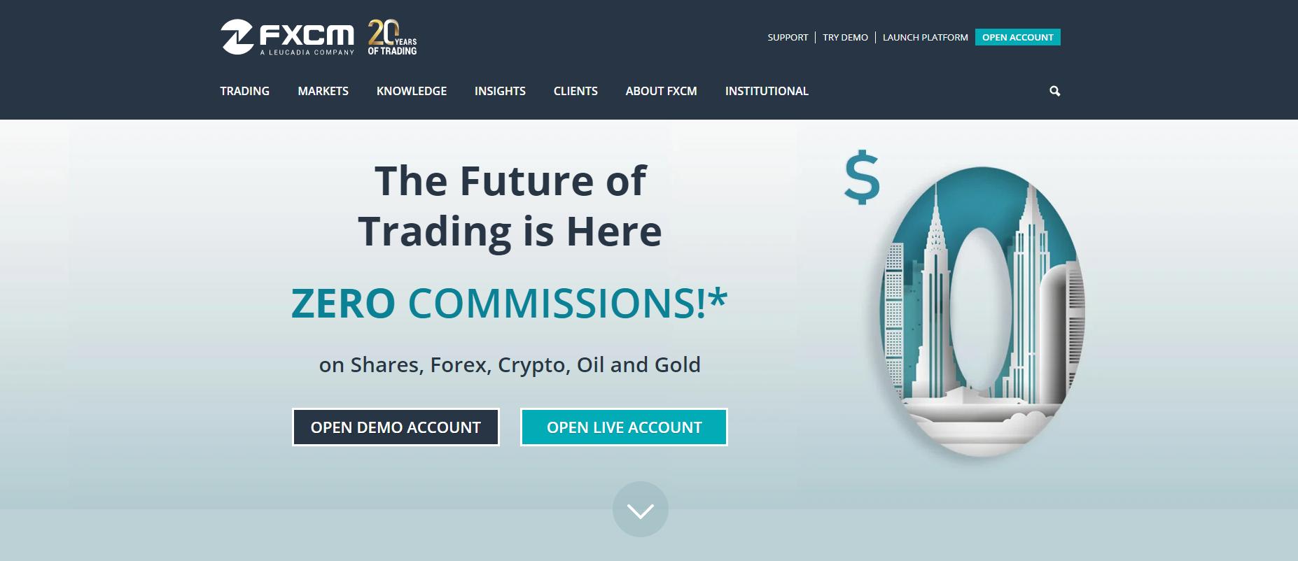 FXCMウェブサイト