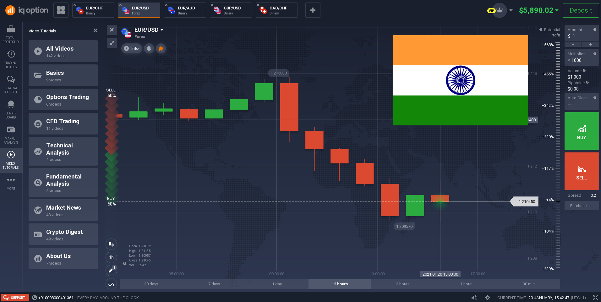 IQ Option trading platform in India