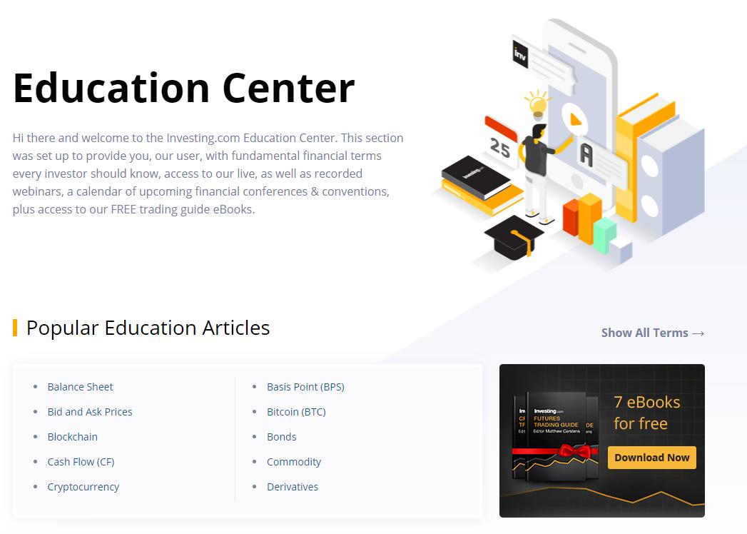 Investing.com education center