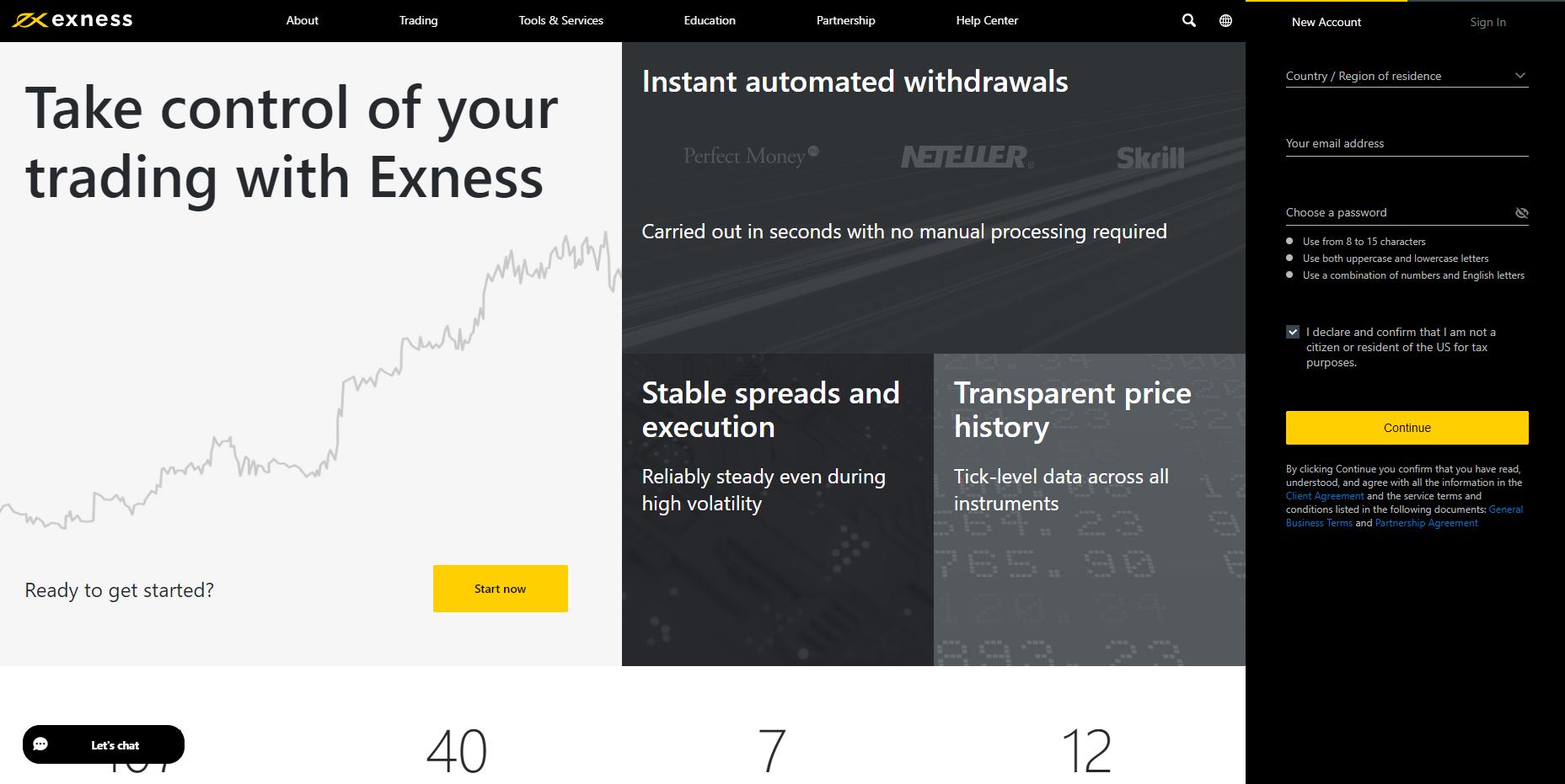 Официальный сайт Exness