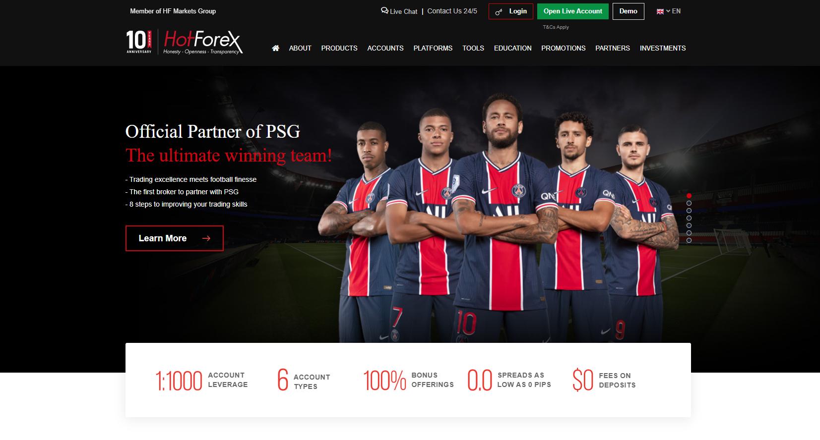 Sitio web oficial de HotForex