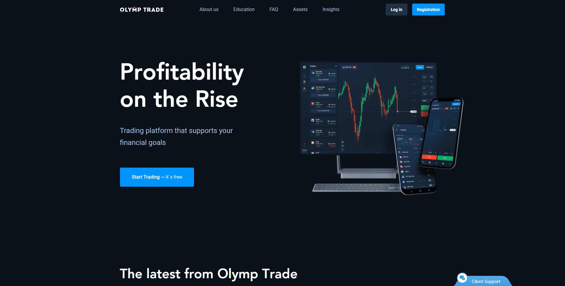 Olymp Trade forex broker in Indonesia