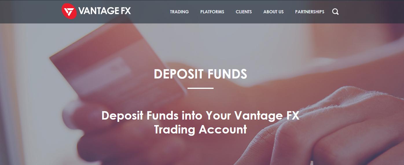 VantageFX minimum deposit graphic