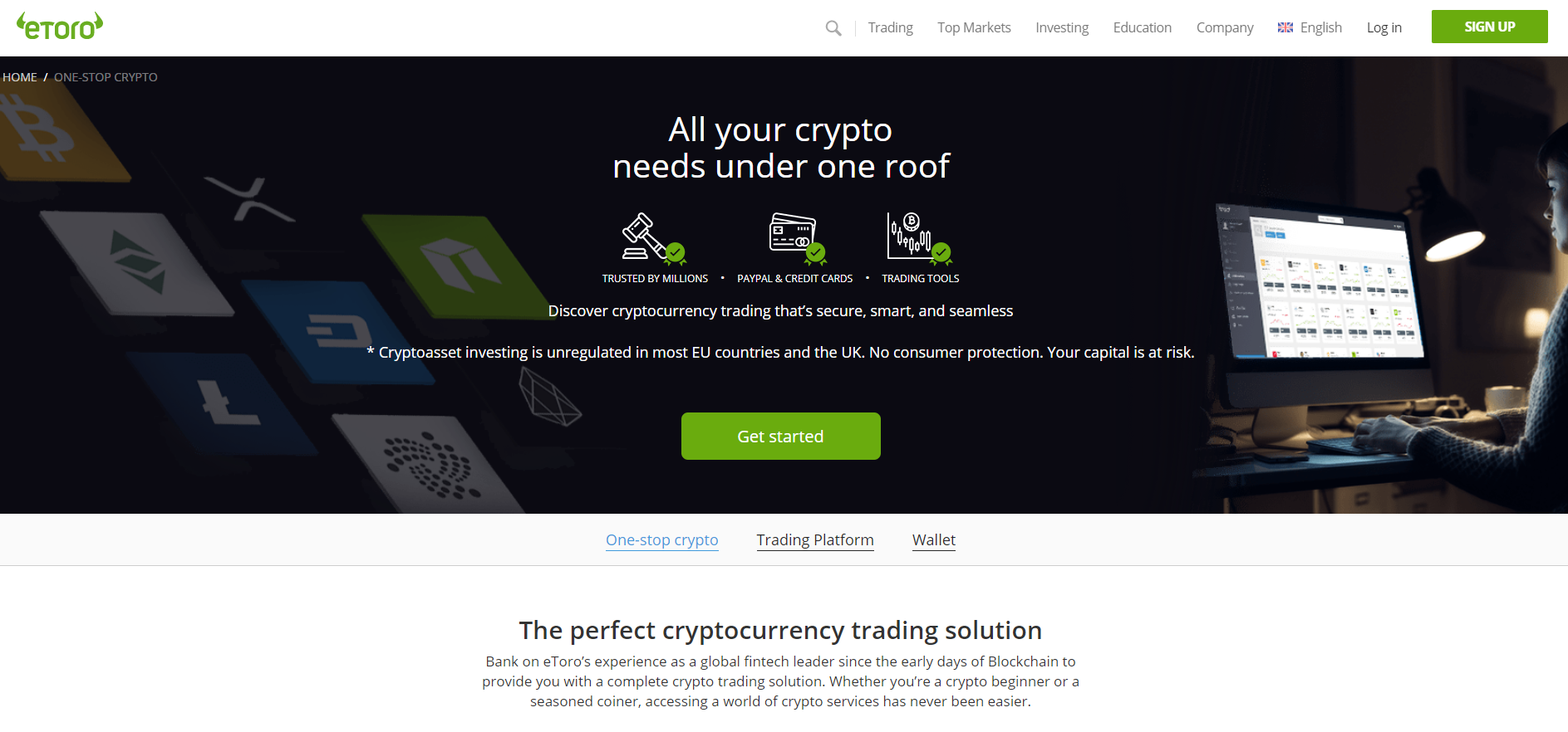 Торговля криптовалютами Etoro