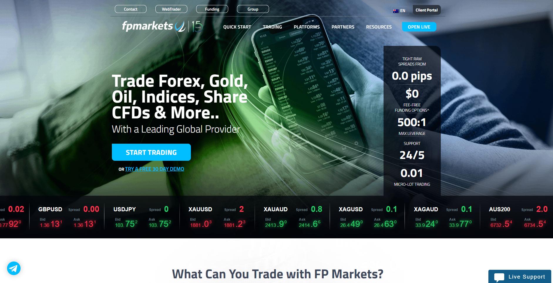 Official website of FP Markets