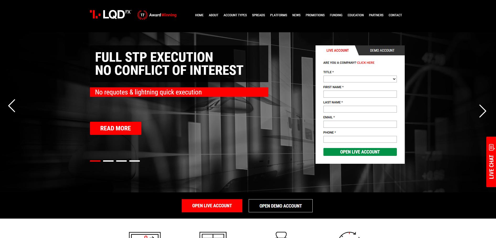 Sitio web oficial de LQDFX