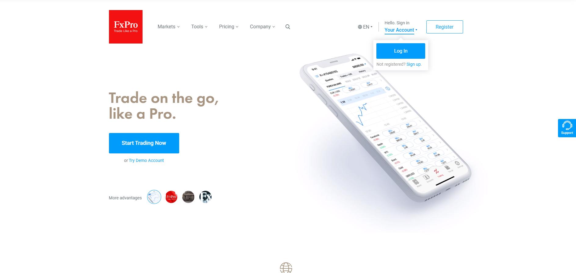 Official website of the forex platform FxPro